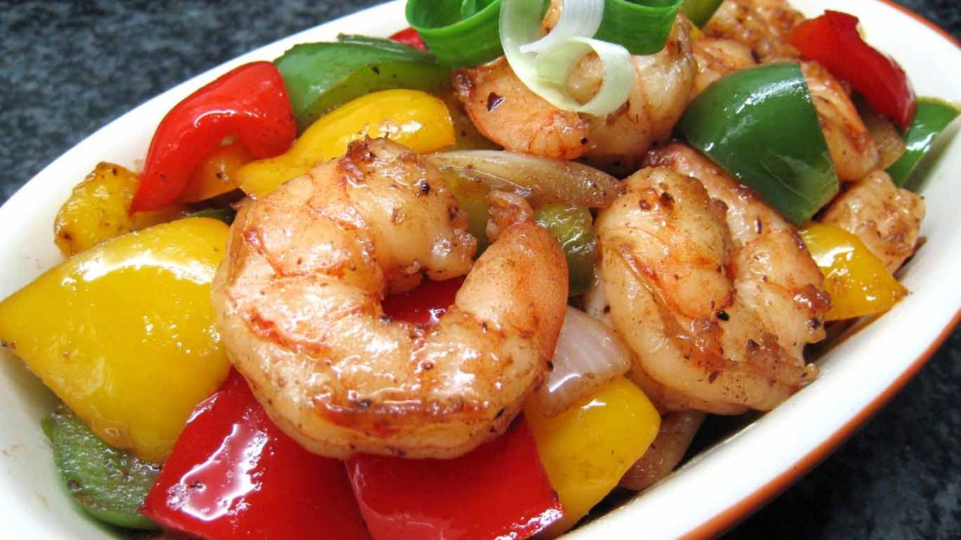 Sautéed Shrimp with Black Bean Garlic Sauce